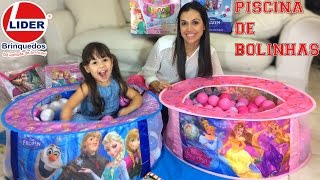 Lider Brinquedos Piscina de Bolinhas Frozen Princesas Disney