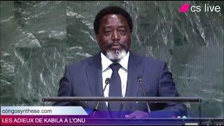 RDC: Les adieux de Kabila à l'ONU