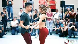 jesse Joy corre bachata Sensual con Pablo y Raquel / workshop en stuttgart bachata festival 2018