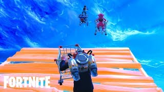 FUNNY SHOPPING CART SKY BASE GAMEPLAY! (All Fortnite Shopping Cart Funny Moments Fails & Epic Wins)
