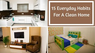 15 Everyday Habits For A Clean Home - Tips For Keeping Home Clean