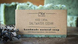 Making Hood Canal Saltwater Cedar & Kelp All-Natural Handmade Soap - Hot Process