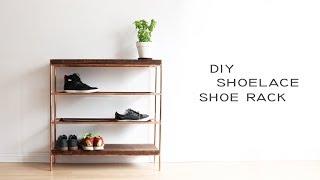 DIY Copper + Walnut Shoe Rack
