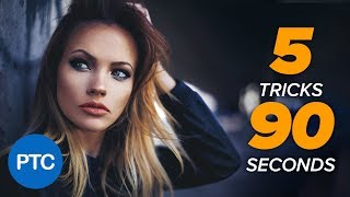 5 Photoshop TRICKS in 90 SECONDS!! Useful Tricks That You Probably Don't Know