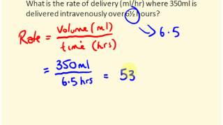 IV rate calculations for nurses - med math