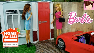 Barbie House  Tour - Totally Real DollHouse  Playset  - Decorating DollHouse with Furniture