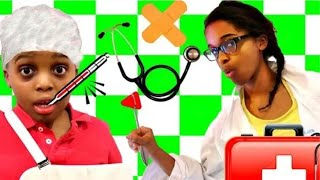 Bad Baby Doc McStuffins Gives Check Up - GROSS BUGS - Shasha and Shiloh Is Sick - Onyx Kids