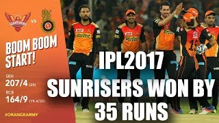 IPl 2017 : Sunrisers Vs Royal Challengers Highlights   SRH beat RCB by 35 Runs   #ipl10  NH9 News