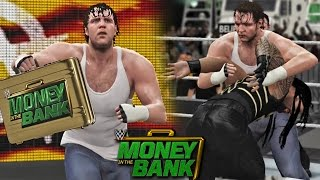 WWE Money in the Bank 2016 - Dean Ambrose Cashes Money inthe Bank Wins WWE Title - WWE 2K16