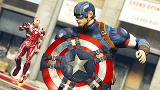 IRON MAN vs CAPTAIN AMERICA!!