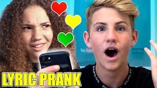 SONG LYRIC PRANK CONFESSION!  (vs Madison + Gracie)