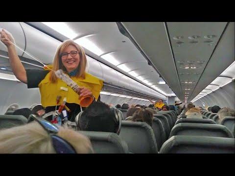 World s Funniest Flight Attendant Leaves Passengers In Hysterics