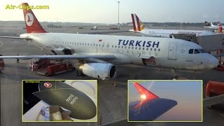 Turkish Airlines Airbus A320 Business Class flight to Istanbul [AirClips]