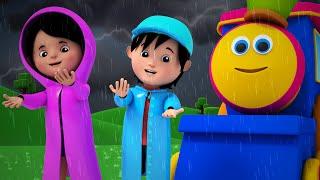 Bob The Train - bob the train | i hear thunder | nursery rhymes | 3d rhymes | kids songs