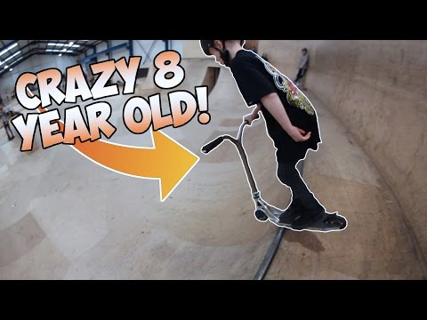 CRAZY 8 YEAR OLD SCOOTER RIDER!