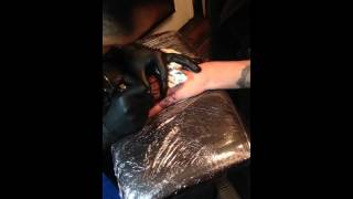 TLC Tattoo Twickenham - Diogo Pereira tattooing Belle's knuckles