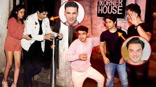 Akshay Kumar Son Aarav CAUGHT Drunk With Sohail Khan Son & Remo D'Souza's Son In Public