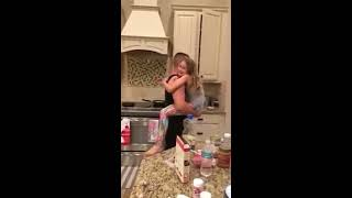 She thought that her husband and her daughter were preparing their food  She was shocked when she sa