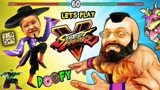 LET'S FIGHT in STREET FIGHTER 5! Doofy Butt Scratching Donuts (FGTEEV Mike & Duddy Gameplay)