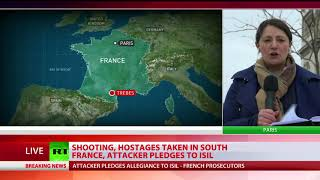 Trebes Siege: Shooting, hostages taken in south France, attacker pledges to ISIS