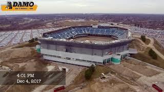 Adamo Implodes Upper Ring of Pontiac Silverdome