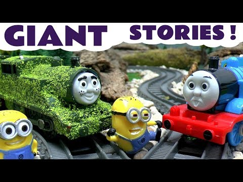 Thomas And Friends Minions Funny Pranks Peppa Pig Tom Moss Toy Train Play Doh Surprise Eggs