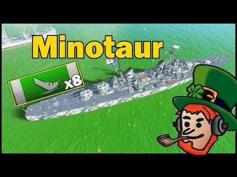 Minotaur 3063 Base XP 228k DMG 8 kills World of Warships