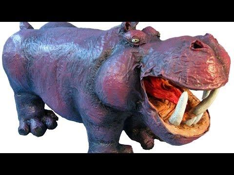 Paper Mache Hippo