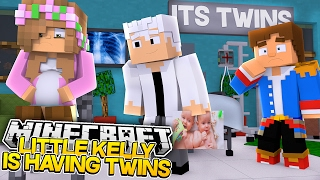 PREGNANT LITTLE KELLY IS HAVING TWINS! Minercraft Future Life w/Little Donny (Custom Roleplay)