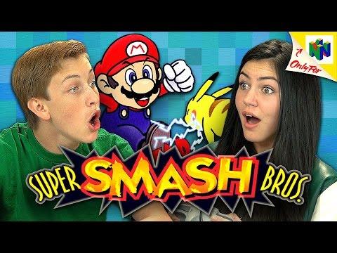 SUPER SMASH BROS. N64 Teens React Retro Gaming