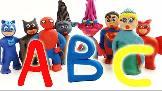 Learning ABC With Superheroes Stop Motion Animation Funny Educational Play Doh Movies