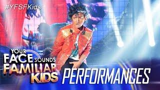 Your Face Sounds Familiar Kids: Justin Alva as Michael Jackson