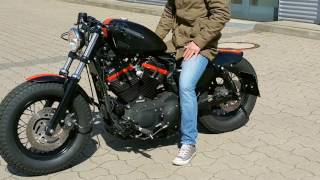 Harley Davidson 48 with BSL exhaust