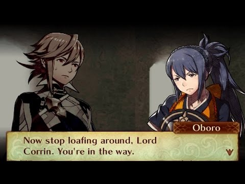 Fire Emblem Fates: Birthright - Male Avatar (My Unit) & Oboro Support Conversations