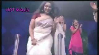 KAVYA MADHAVN NAVEL SLIPS IN Kerala Saree