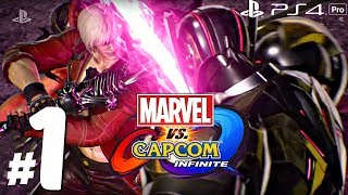 Marvel vs Capcom: Infinite - Gameplay Walkthrough Part 1 - Full Story Demo (1080p 60fps) PS4 Pro