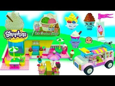 Surprise Blind Bag Customers Buy Ice Cream from Lego Friends Truck Shopkins Shop