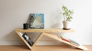 DIY Bobby Pin Coffee Table | Two 2X4 Challenge