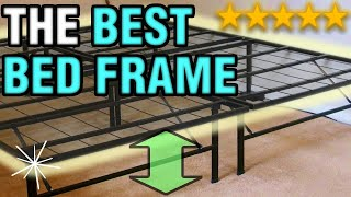 The Best Bed Frame   Raised Folding Metal Heavy Duty Cheap & Easy Bed Frame 2018