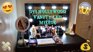 $75 DIY HOLLYWOOD VANITY LED MIRROR|GERINE KATE JOHNSTON