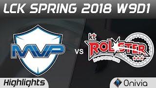 MVP vs KT Highlights Game 1 LCK Spring 2018 W9D1 MVP vs KT Rolster by Onivia