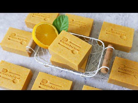 橘香家事皂DIY how to make the kitchen bar soaps with orange oil and a lot of soap scraps 手工皂