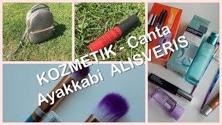kozmetik Alisverisi - Canta ayakkabi ve makyaj