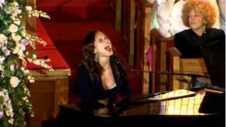 Alicia Keys Whintey Houston's Funeral