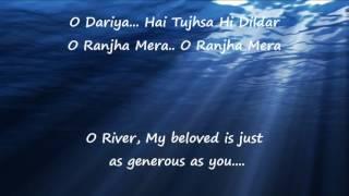 Dariya- Baar Baar Dekho| Lyrics|English Translation |Arko |