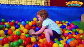 Cute Kid Genevieve is Back at Best Indoor Playground for Kids Great Family Fun! Ball Pits & Slides!
