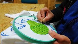 Como bordar una pera parte 4