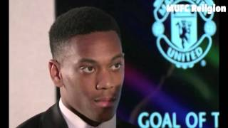 Manchester United Goal Of The Season Anthony Martial's Speech! Awards Ceremony