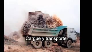 Proceso de extraccion minera de piedra caliza