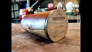 Leather and Wood Shoe Polish Case - Forme Industrious